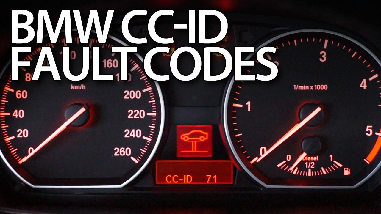 BMW CC-ID coduri de identificare defecte și mesaje de avertizare